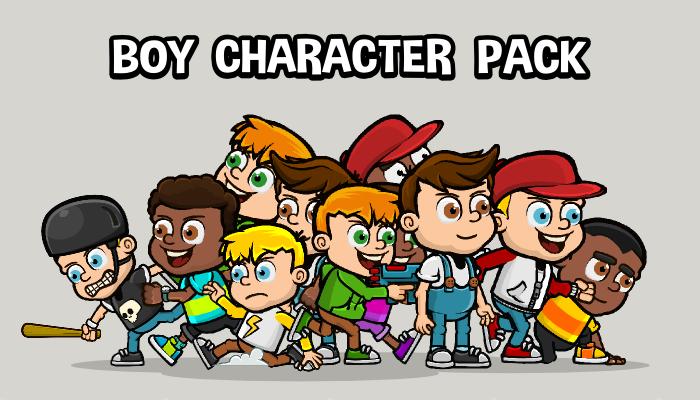 Boy character mega pack