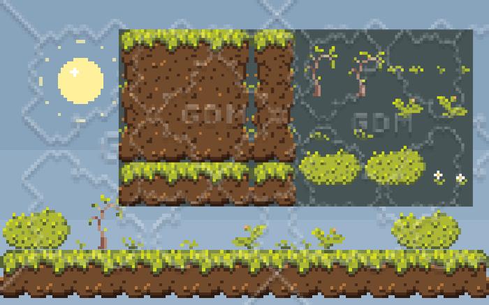 Pixelated Grass Tiles