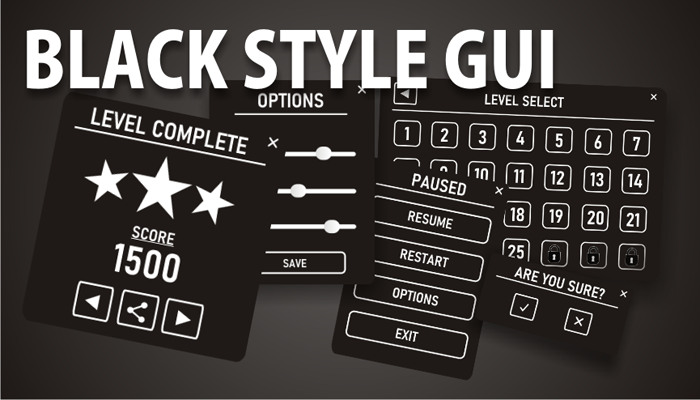 Black style GUI