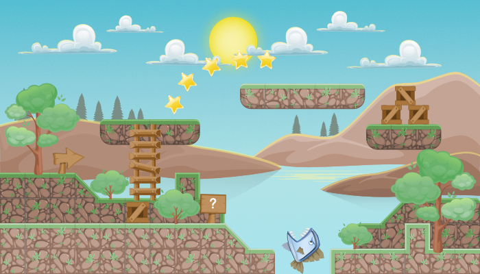 "TileSet Platformer game pack 2D ""Nature"""