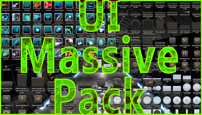 GUI Massive Pack + music + FX (scifi version)