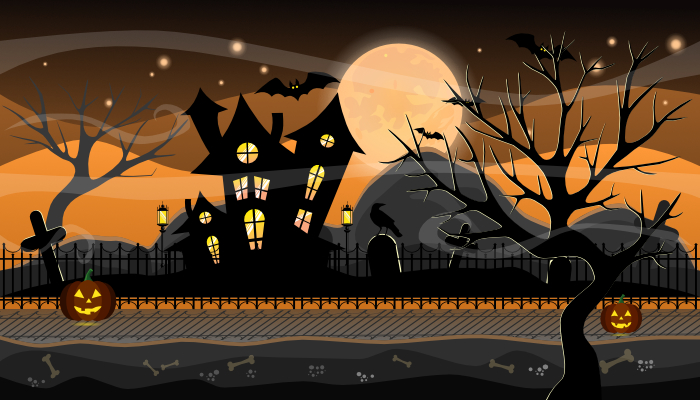 Halloween Game Background Parallax
