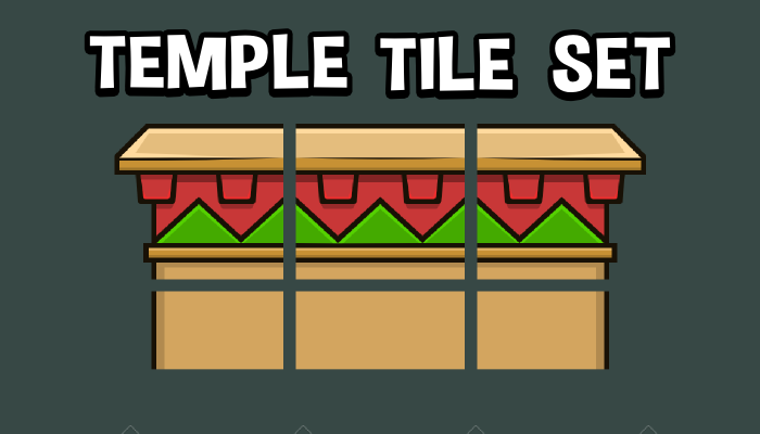 Temple tile set