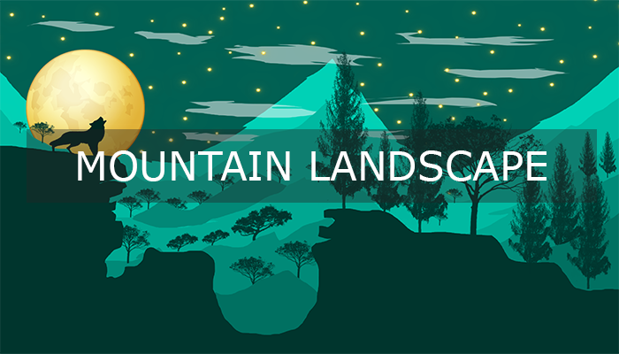Mountain Landscape Background (Mobile Games)