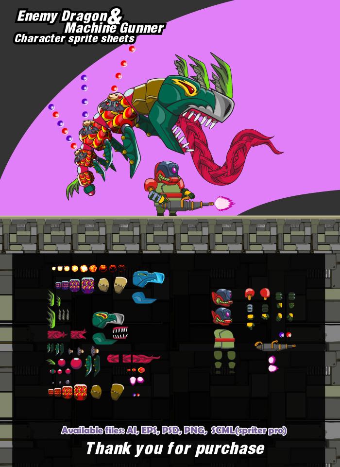 enemy Dragon and Machine gunner