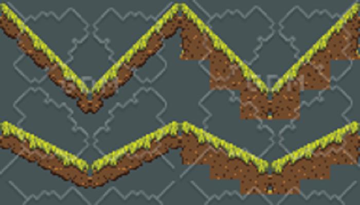 Pixelated Grass Tiles 2