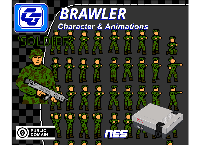 Brawler Asset Character 'Soldier' NES