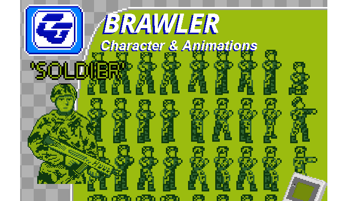 Brawler Asset Character 'Soldier' Gameboy