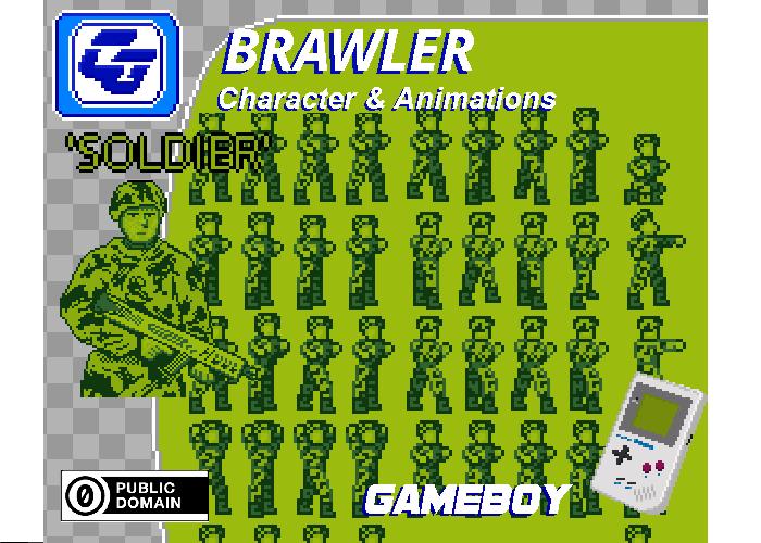 Brawler Asset Character 'Soldier' Gameboy