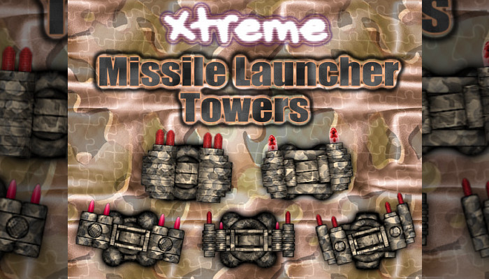 Missile Launcher Towers (100+ 2D Top-Down Items)