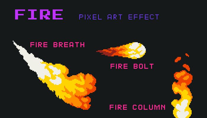 Fire Pixel Art Effect