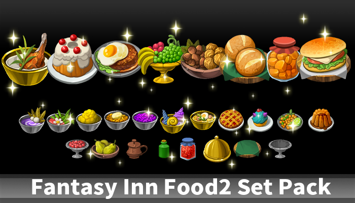 Fantasy Inn Food2 Set Pack