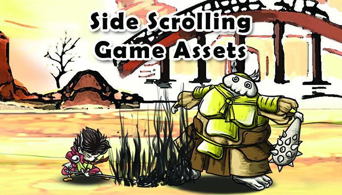 Side scrolling action game assets