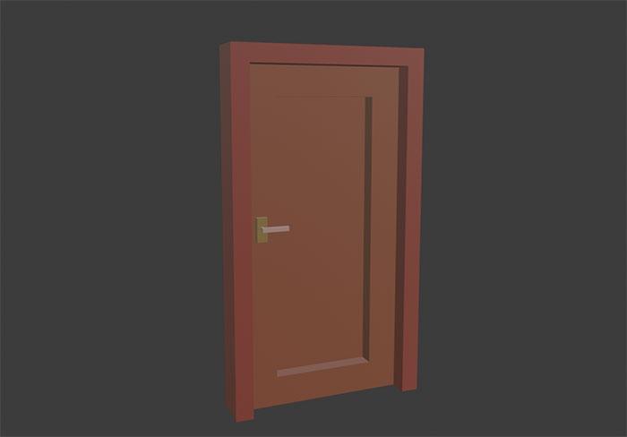 Low poly simple door