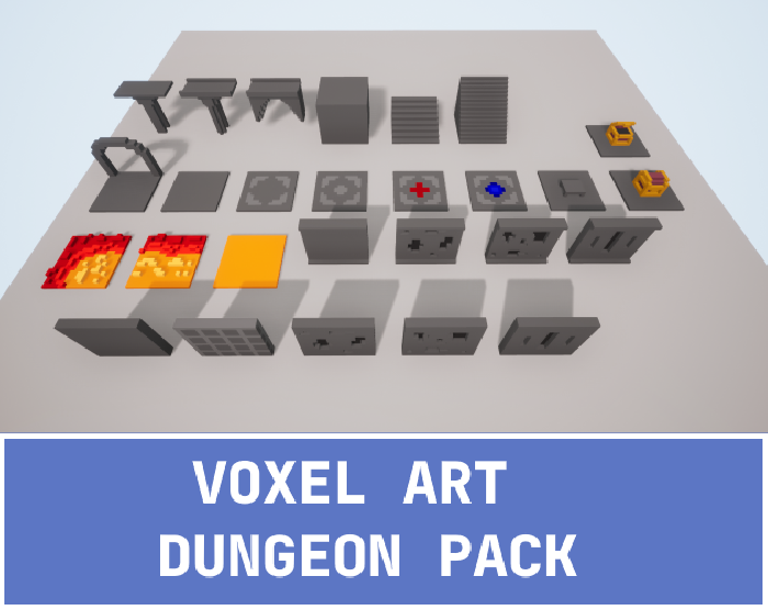 Voxel Art Dungeon Pack