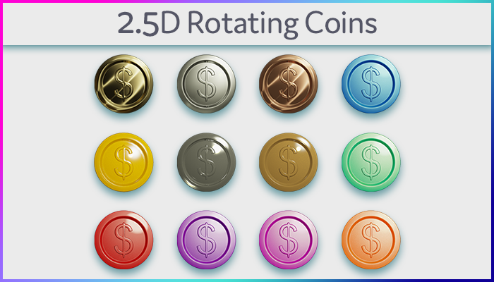 2.5D Rotating Coins
