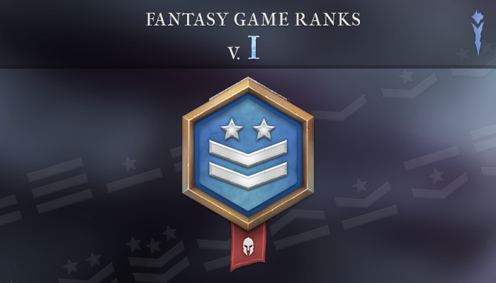 Fantasy Game Ranks V.1