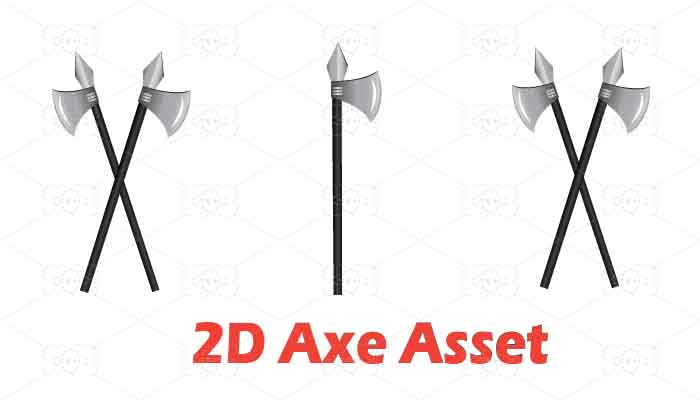 Cartoon 2d Axe Asset