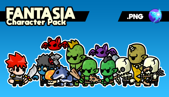 Fantasia Character Pack – Game Sprites