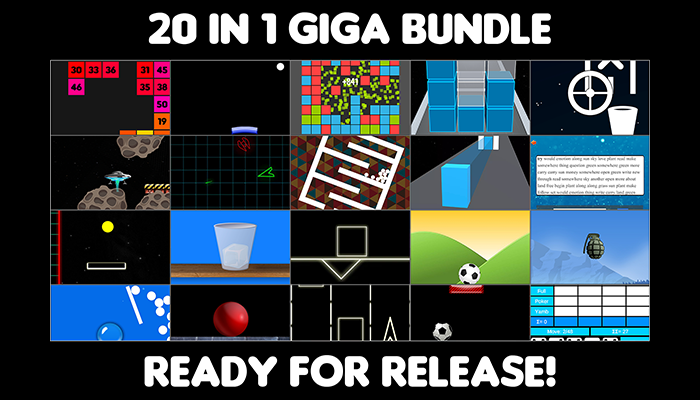 zz 20 in 1 giga bundle – pack of hyper casual games – ready for release on play store and app store