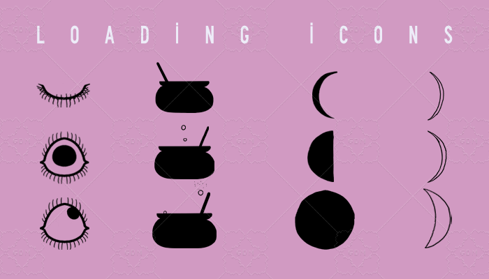 Spooky Animated Loading Icons (set of 4)