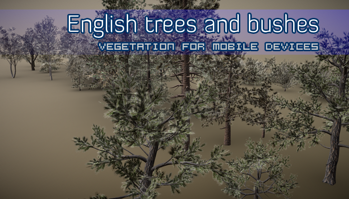 English trees and bushes Pack