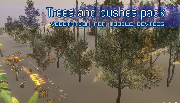 Trees and bushes pack