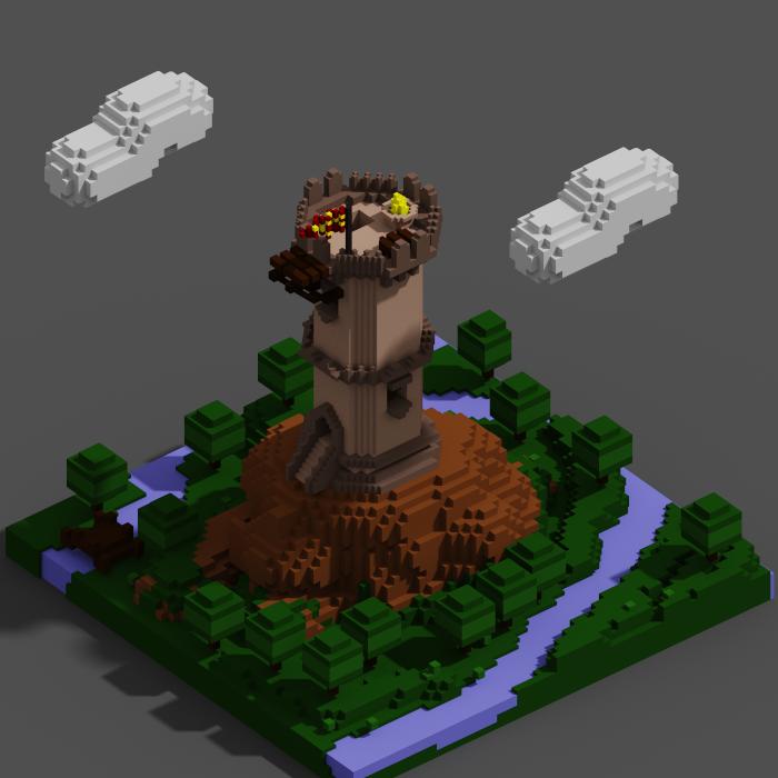 Tower Pixel Art 2D