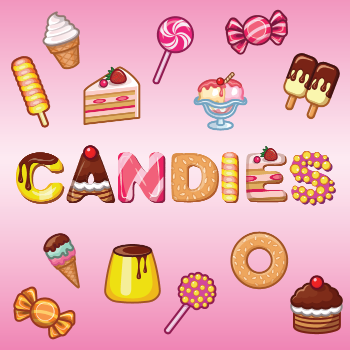 17 Candies Food Items