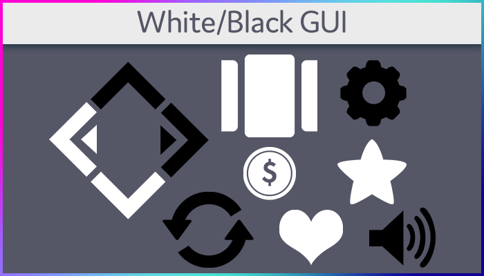 White & Black GUI Icon Pack