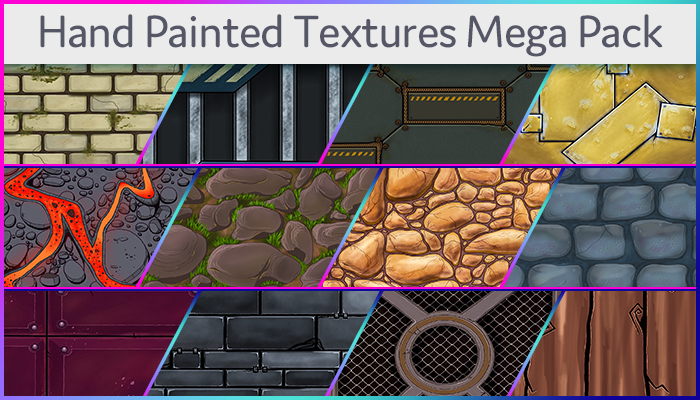 Hand Painted Textures Mega Pack