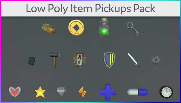 Low Poly Item Pickups Pack