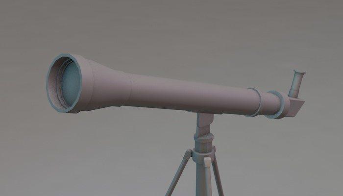 Low poly telescope