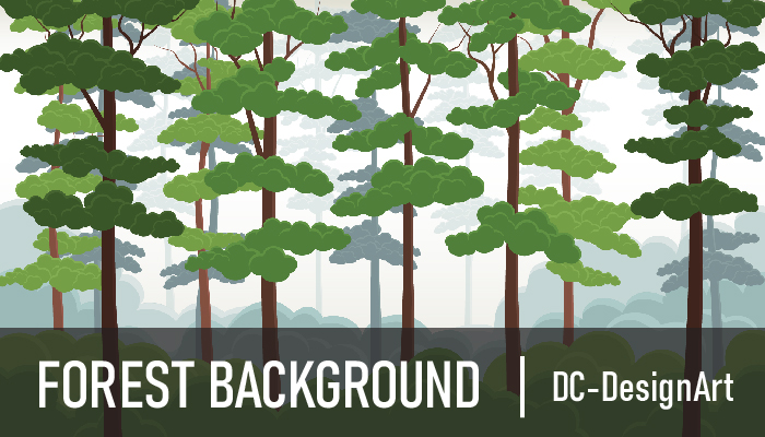 2D parallax Forest Background