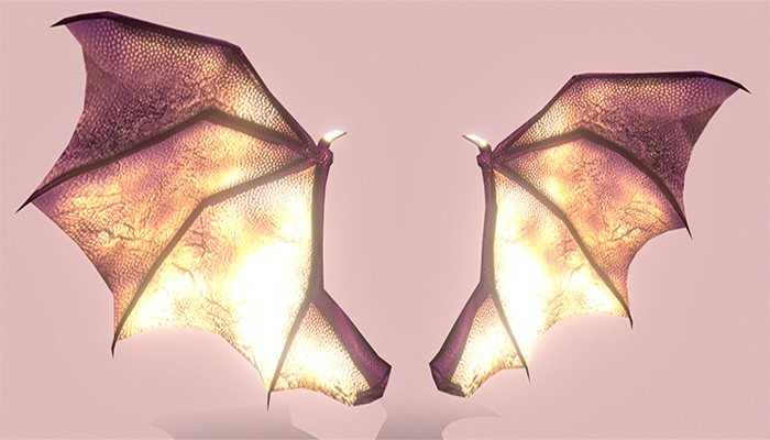 Low Poly Demon Wings