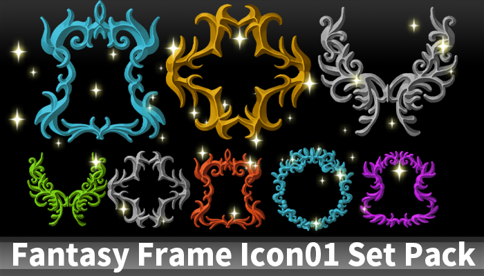 Fantasy Frame Icon01 Set Pack