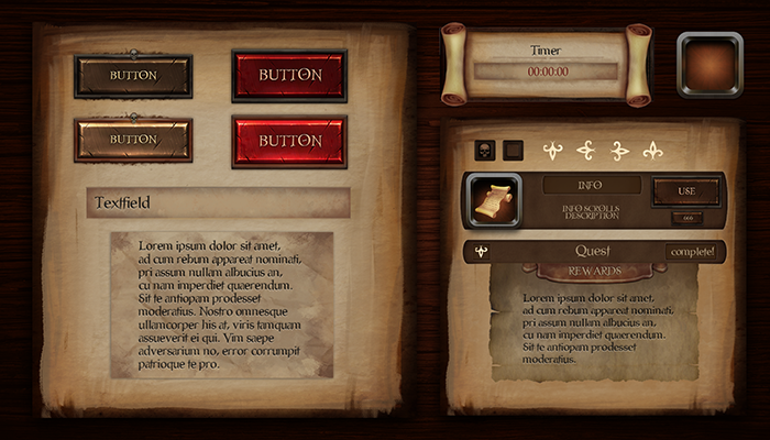 Pirate Journal UI