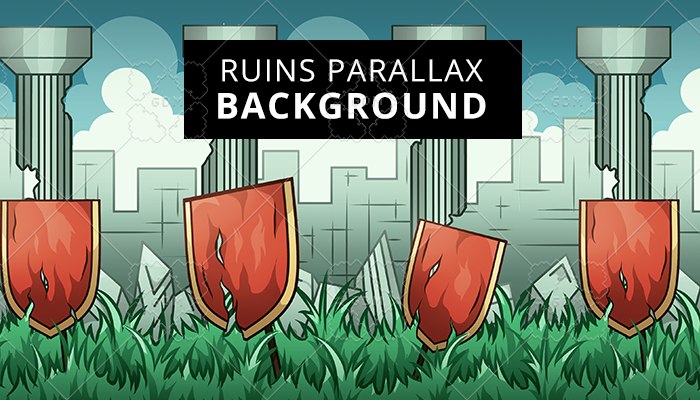 Ruins Parallax Background