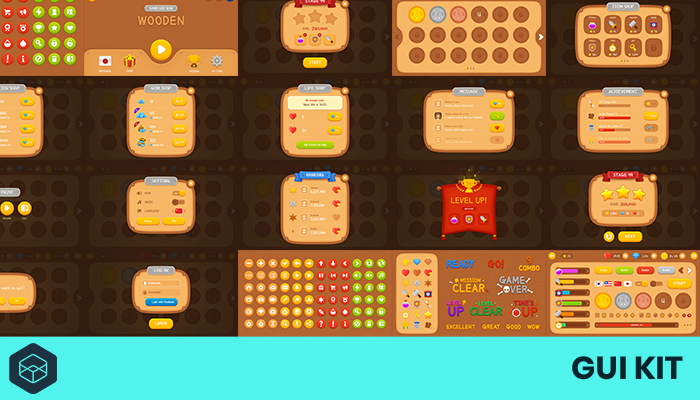 GUI Kit – Wooden