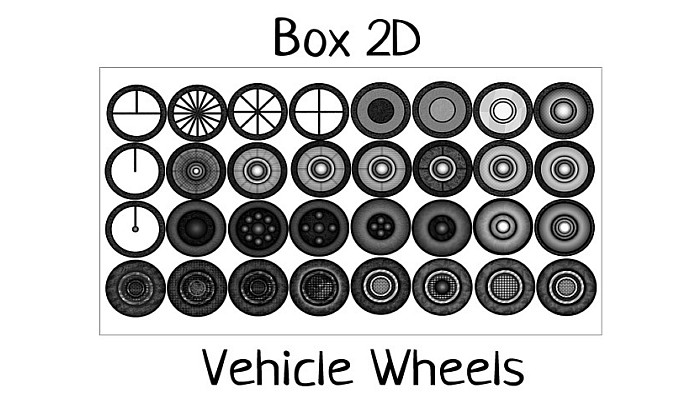 Box 2D Vehicle Wheels