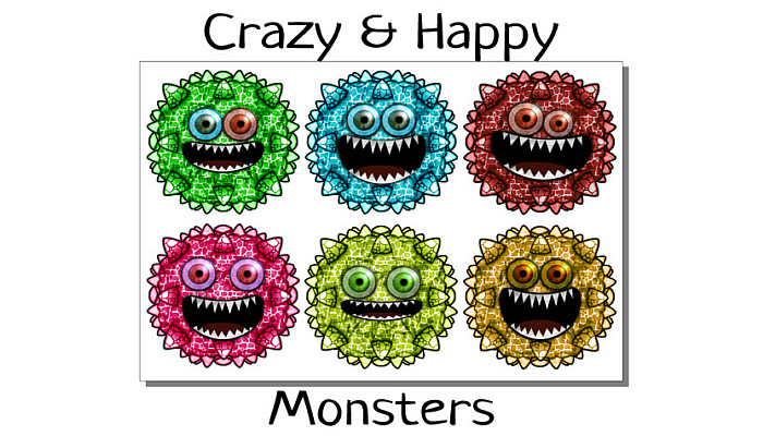 Crazy Funny Happy Monster
