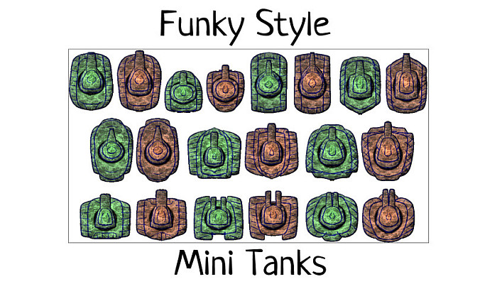 Funky Mini Tanks