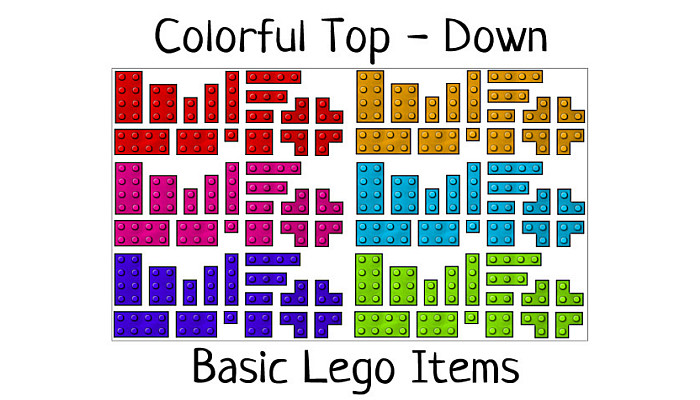 Top – Down Lego Items