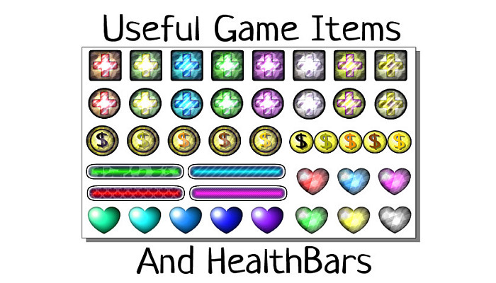 Useful Game Items & HealthBars