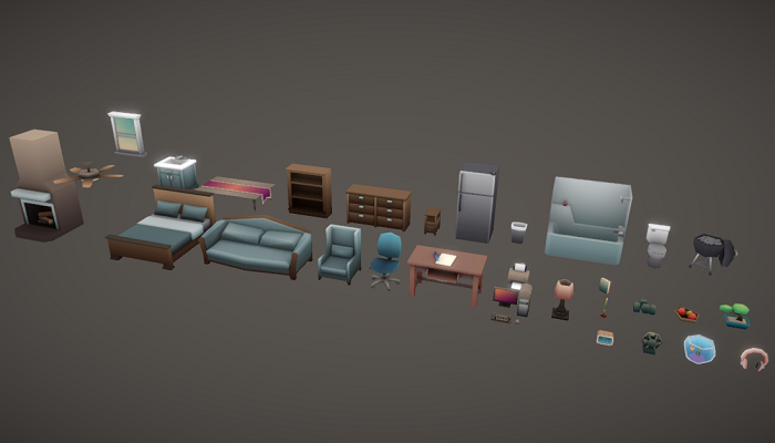 Low Poly Household Props