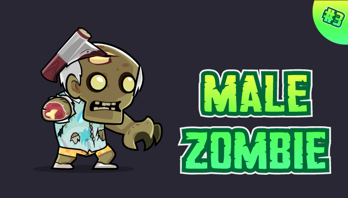 Male Zombie Character Sprites 03