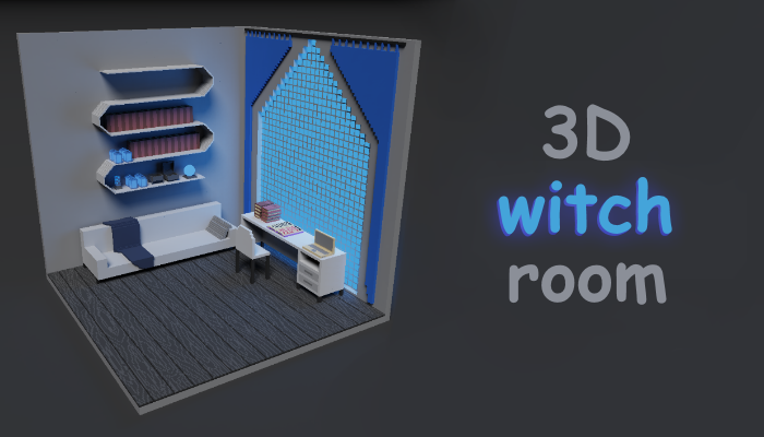 3D Witch room Magicavoxel