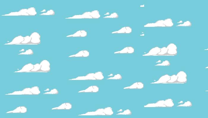 simple cloud 2d
