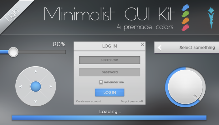 Minimalist GUI Kit – Light