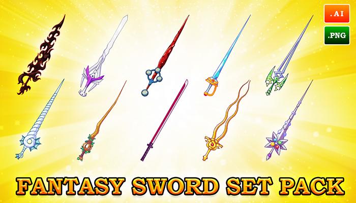 2D FANTASY SWORD SET